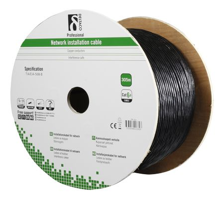 Cat6A Outdoor cable SFTP black 305m