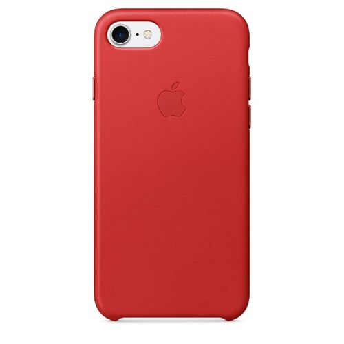 APPLE iPhone 7 Leather Case - PRODUCT RED (MMY62ZM/A)