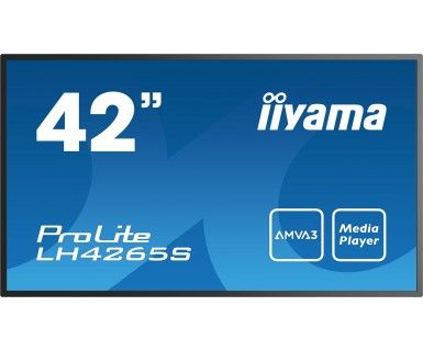 LH4265S-B1 106.7CM 42IN AMVA3 FHD 400CD 18H 400X400 BLACK      IN LFD