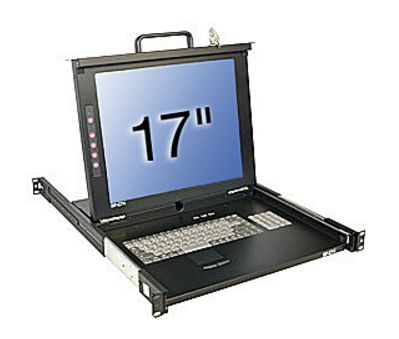 "17""LCD U16C KVM Sw.Classic US 19""1HE Single Rail mit KVM"