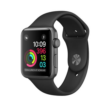 APPLE WATCH 1 38MM SPACE GREY ALU CASE WITH BLACK SPORT BAND   IN CONS