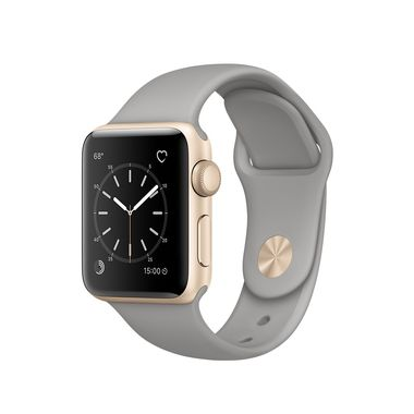 APPLE WATCH 1 38MM GOLD ALU CASE WITH CONCRETE SPORT BAND    IN CONS
