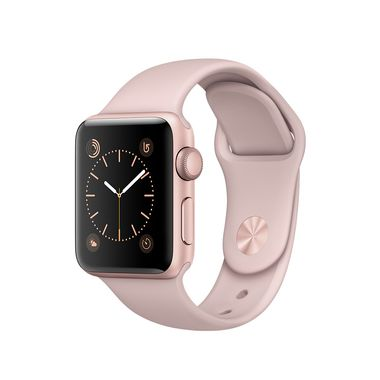 APPLE WATCH 1 38MM ROSEGOLD ALU CASE WITH PINK SAND SPORT BAND   IN CONS
