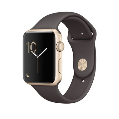 APPLE WATCH 1 42MM GOLD ALU CASE WITH COCOA SPORT BAND       IN CONS