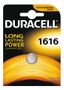 DURACELL Coin Battery, CR 1616, Lithium, 3V, 1-pack
