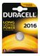 DURACELL Coin Battery, CR 2016, Lithium, 3V, 1-pack