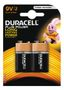 DURACELL Plus Power alkaliskt batteri, LR61 (6LF22/MN1604), 9V, 2-pack