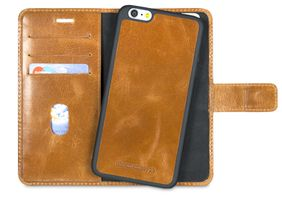 Leather Folio Lynge for iPhone 6/6S plus - Golden tan