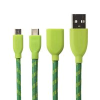 USB-C to USB-A Duo Retro Cable 1,0 m green