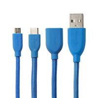 USB-C to USB-A Duo Retro Cable 1,0 m blue