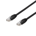 DELTACO U/UTP Cat6a patch cable, 15m, 500MHz, LSZH, black