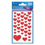 AVERY Heart Red Labels (4371)