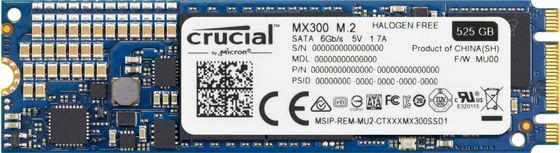 SSD M.2 525GB MX300 Type 2280