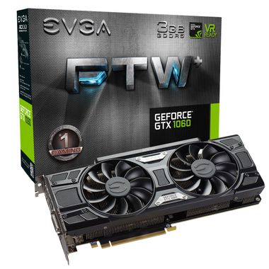 GeForce GTX 1060 3GB FTW+ Gaming Skjermkort,  PCI-Express 3.0, GDDR5, 1632/ 1860MHz,  ACX 3.0, Pascal