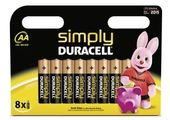 DURACELL Batterie Duracell SIMPLY - AA (MN1500/ LR6)              8St.
