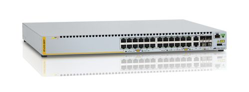 ALLIED TELESYN L2+ managed stackable switch, 24 POE+ ports 10/ 100Mbps,  2-port SFP/ Copper combo port, 2 dedicated st (AT-x310-26FP-50)