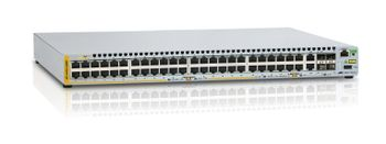 ALLIED TELESYN L2+ managed stackable switch, 48 POE+ ports 10/ 100Mbps,  2-port SFP/ Copper combo port, 2 dedicated st (AT-x310-50FP-50)