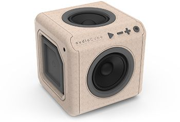 AudioCube portable wood edition