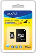 A-DATA 4GB microSDHC Card Class 4 incl adapter
