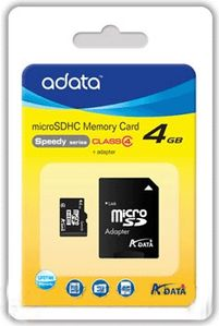 A-DATA 4GB microSDHC Card Class 4 incl adapter (AUSDH4GCL4-RA1)