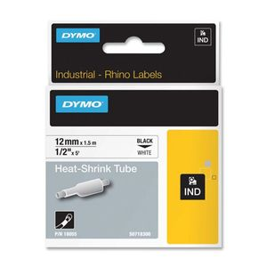 DYMO RHINOPRO 1/2IN WHT HEAT SHRINK TUBES (18055)