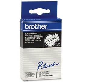 BROTHER Tape Brother 12mm BLACK ON WHITE TAPE (TC201)