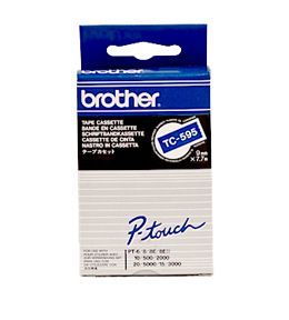 BROTHER 9MM P-TTAPE HVIT P BL (TC595)
