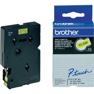 BROTHER Tape/9mm black on yellow (TC691)