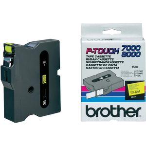 BROTHER 18mm Black On Yellow Tape (TX641)