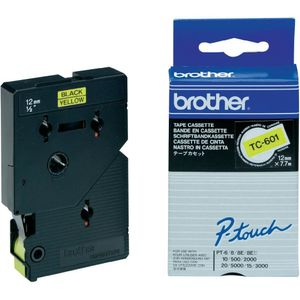 BROTHER P-TOUCH 12MM BLACK/ YELLOW 7,7M (TC-601)