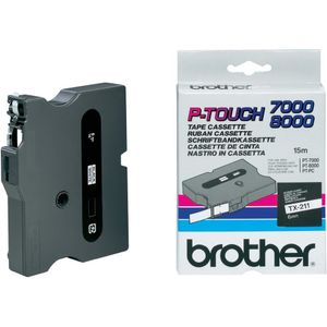 BROTHER Tape/6mm black on white f P-Touch (TX211)