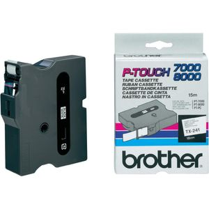 BROTHER Tape/ black-white 18mm f 7000-8000-2500 (TX241)