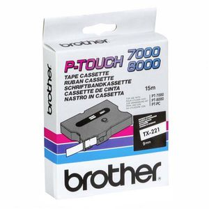 BROTHER Tape/ black-white 9mm (TX221)