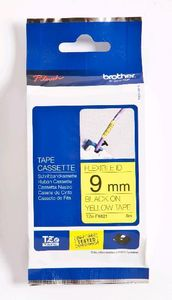 BROTHER P-Touch Tape Black On Yellow 9 mm Strong Adhesive (TZ-FX621)