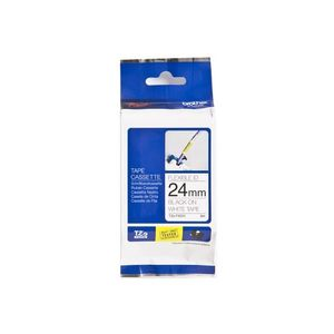 BROTHER P-Touch Tape Black On White 24 mm Strong Adhesive (TZ-FX251)