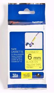 BROTHER 6MM Black On Yellow Flexible ID (TZEFX611)