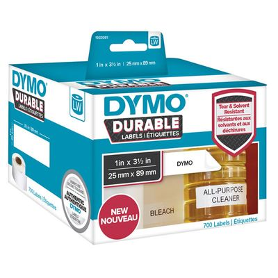 LW Durable shelving label 25mm x 89mm, 350 labels