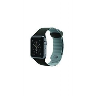 SILIKONEBAND F APPLE WATCH 38MM BLACK - GRAY ACCS