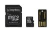 KINGSTON 16GB microSDHC Mobility Kit incl USB + SD Adapter