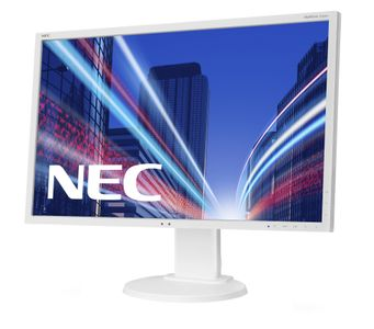 NEC MultiSync E223W 22inch TN W-LED 1680x1050 DVI-VGA Height adjust:110mm 250cd/m2 1000:1. ECO tech 17W ECO 40W max EPEAT White (60003335)