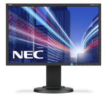 NEC MultiSync E223W 22inch TN W-LED 1680x1050 DVI-VGA Height adjust:110mm 250cd/m2 1000:1. ECO tech 17W ECO 40W max EPEAT Black (60003334)