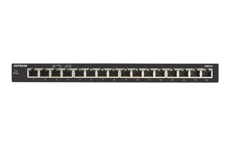 NETGEAR 16-Port Gigabit Desktop Switch Metal (GS316) (GS316-100PES)