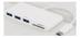 DELTACO USB 3.1 Gen 1 hub, USB-C, 3USB A, SD/ microSD reader, white