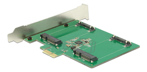 DELOCK PCI Express Card>2x internal mSATA (89479)