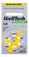 iCellTech 10 PR70 Zinc-Air batteries,  Mercury free 6p