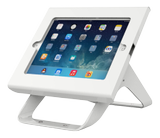 DELTACO iPad holder for iPad 2/ 3/ 4/ Air/ Air2,  180° rotation, 90° tilt, white