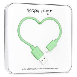 HAPPY PLUGS MICRO-USB TO USB CHARGE/ SYNC CABLE (2 M) MINT (9929)
