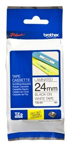 BROTHER 24MM Black On White Tape (TZE251)