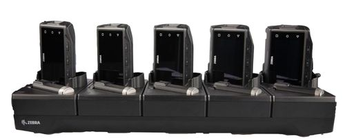 ZEBRA RS6000 5SLOT CHARGE ONLY SHARECRADLE W/SPARE BATTERY CHARGER, ALLOWS TO CHARGE 5 RING SCANNERS AND 5 SPARE BATTERIES. REQUIRES PWRS-14000-241R,  DC LINE CORD 50-16002-029R AND GROUNDED COUNTRY SPECIFIC (CRD-NGRS-5S5BC-01)