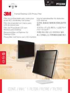 3M PF324W FRAMED PRIVACY FILTER 23.6-24IN / 60.0-61.0CM / 16:10 ACCS (7000059522)